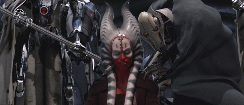 Shaak Ti apologises for failing the Jedi. Greivous says something